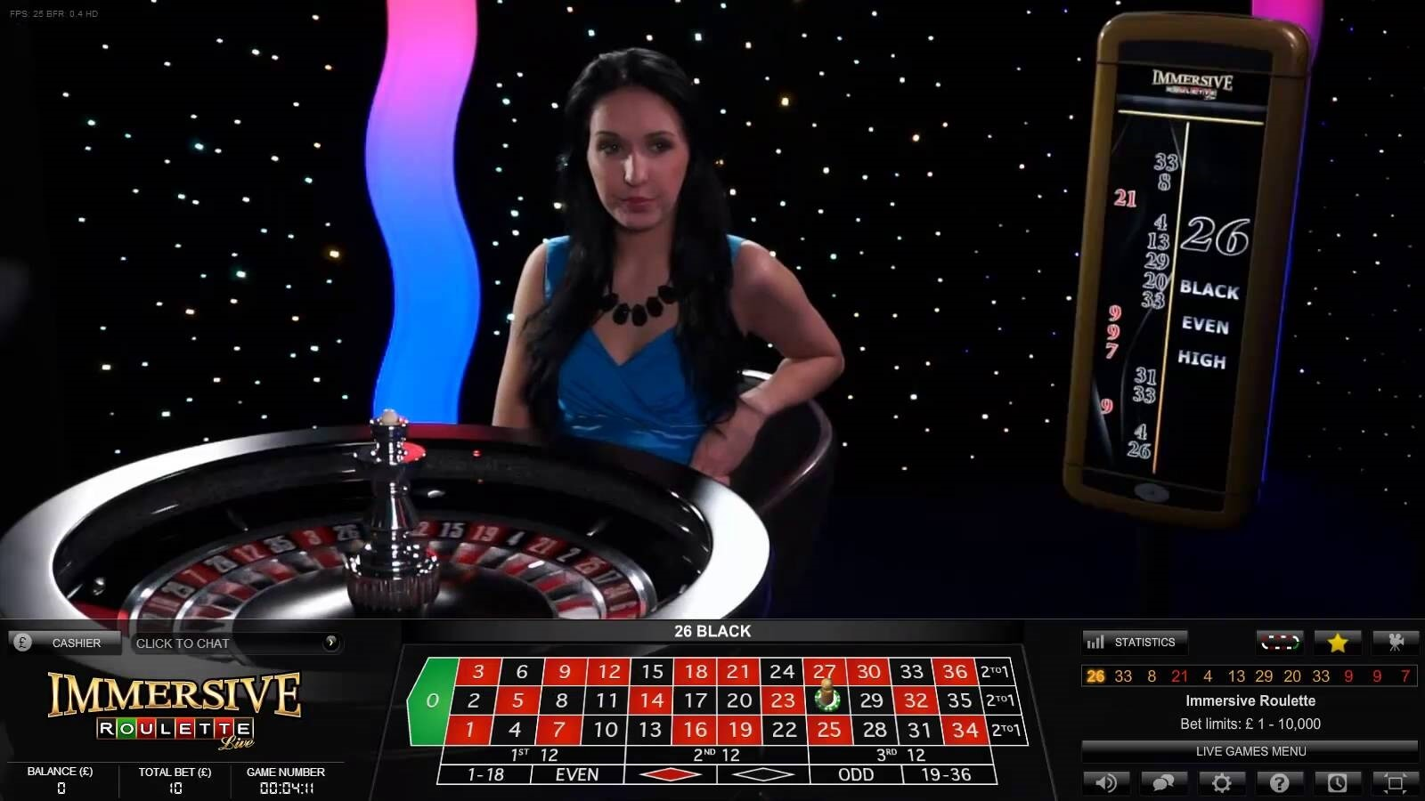 live dealer roulette - immersive roulette by evolution gaming